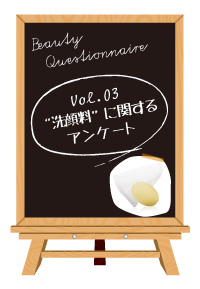 Vol.03洗顔料に関するアンケート